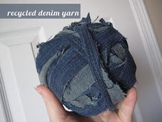 Recycled jeans into yarn!