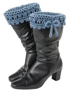 Crochet boot liner