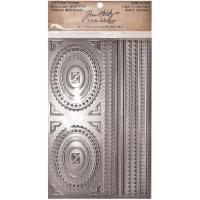Tim Holtz Idea-ology Industrious Stickers 5X8 - Metallic Frames & Trims 23
