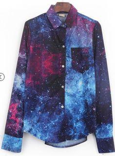 Galaxy printed #shirt
