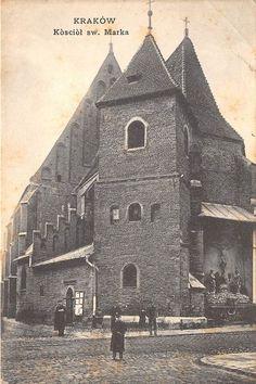 Kościół św. Marka na pocztówce sprzed ponad 100 lat! Krakow Poland, Planet Earth, Old Photos, Barcelona Cathedral, Planets, Tours, Landscape, City, Building