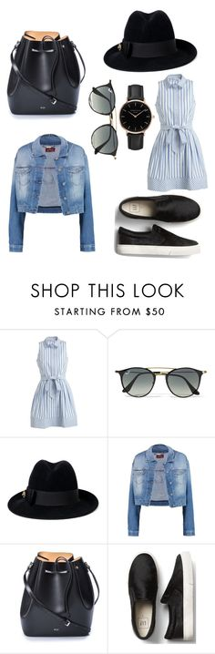 """""""Verano"""" by sofi-crabbe on Polyvore featuring moda, Milly, Ray-Ban, Gucci, 7 For All Mankind, N°21 y Topshop"""