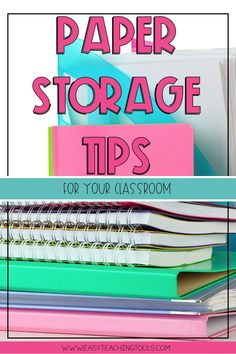 Paper Storage Tips to Keep Your Classroom Tidy - Easy Teaching Tools - These paper storage tips to keep your classroom tidy will help you and your learners have a success - Teacher Paper Organization, Organized Teacher, Organization Ideas, Classroom Calendar, Classroom Decor, Classroom Arrangement, Paper Storage, Craft Storage, Classroom Management Strategies