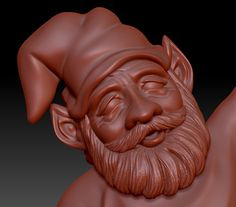 Gnome face detail