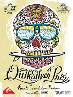 Surf competition posters | ... aaron onsurez was asked to help quiksilver to design a poster for a