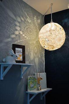 DIY doily light orb