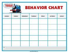 Free Printable Thomas Tank Engine Behavior Chart