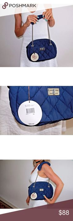 🆕 BNWT BGBGeneration Navy Quilted Bag Retail: $98 Up for sale is a brand new with tag BCBGeneration navy quilted shoulder bag.  Retail price: $98  Soft quilted fabric material with silver chain. Comes with snap-on cushion for chain.  Sold out everywhere! BCBGeneration Bags Shoulder Bags