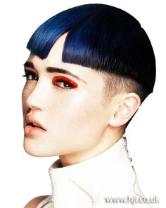 Navy blue crop    Hairstyle by: Frank Apostolopoulos  Hairstyle picture by: Andrew O'Toole  Salon: Biba Salons  Location: Australia