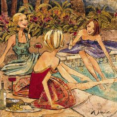 "Reminds me of our summer fun ""poolside time"" with the girls.                                   Poolside - Kathy Womack"