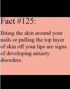 I guess I have anxiety disorder