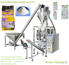 Full automatic tile grout powder vertical packaging machine with gusset bag.  Skype:coco11283  WhatsApp,viber:008613590629511,onepacking@gmail.com   www.bestarpackaging.com Wechat:YECO11     QQ:277547358   Bestar packaging machine  provide Vertical Form Fill & Seal (VFFS) Machine for 500g,1kg,2kg,3kg,4kg,5kg wall putty powder,tile grout powder,powder wall tile grout,White Powder Wall Tile Grout,floor tile grout powder,FLOOR & WALL TILE ADHESIVE