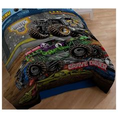 Monster Jam Twin Comforter Grave Digger Bedding