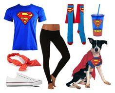 """Diy teen Superman costume"" by racheloveeeeeeee on Polyvore featuring Electric Yoga, Converse and Mudd"