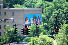 Lucille Ball Show mural on a wall in Jamestown, New York
