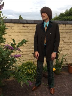Take 6 Regency jacket - Lord John velvet trousers and Lord John Paisley tie worn by Peter Feely