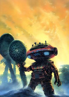 Chris Foss - Robots of Dawn (Isaac Asimov) from his recent anthology Hardware: The Definitive SF Works of Chris Foss. Isaac Asimov, Illustrations, Illustration Art, Art Science Fiction, Pulp Fiction, Arte Sci Fi, 70s Sci Fi Art, Arte Tribal, Arte Robot
