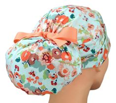 Womens Perfect Fit Ponytail Surgical Scrub Hat   Joyful Surgical Caps, Natural Latex, Large Women, Scrub Caps, Folded Up, Teal Green, Suits You, Joyful, Ponytail