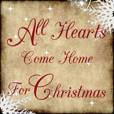 All Hearts  Come Home For Christmas Decor Print Red Winter Sign