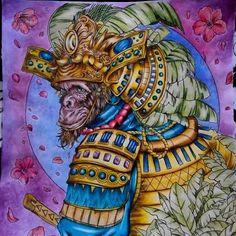 Book : Fantasia by @nickfilbert. I call him Sun Go Kong, The Monkey King haha... #fantasiacoloringmarathon #fantasiacoloringbook #mainwarnasurabaya #bayan_boyan #coloringbookid #coloringbookforadults #boracolorirtop #antistress #colortherapyapp