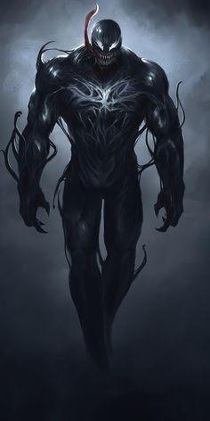 Marvel Comics Superheroes, Marvel Villains, Marvel Heroes, Marvel Avengers, Venom Comics, Marvel Venom, Black Spiderman, Spiderman Art, Marvel Comic Universe