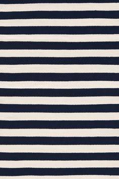 Trimaran Striped Navy & Ivory Indoor/Outdoor Area Rug