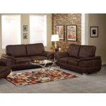 Acme Furniture - Corliss 2 Piece Fabric Sofa Set in Dark Brown - 51675-S+L