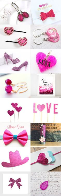 Bright in Pink by Gabbie on Etsy #etsy #treasury #pink #cute #hot #bright #glitter