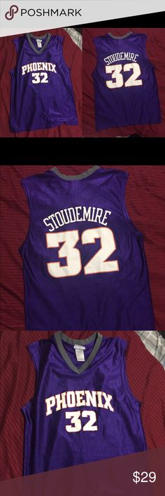 Stoudemire #32 suns official NBA MED jersey Nice stiudemire jersey is a medium but can fit a large NBA  Shirts