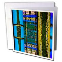 3dRose - Jos Fauxtographee Abstract - Green, Blue, Gold with a Dash of Pink and Purple In Rectangles Layered from Landscape