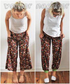 Ninutschkanns: Refashion - Hose mit Bündchen