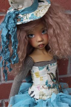"""Colibri   vintage Outfit for Kaye Wiggs 18"""" MSD, BJD by Olga + Wig #ClothingAccessories"""