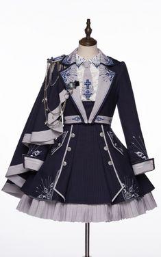 Kawaii Dress, Kawaii Clothes, Kawaii Fashion, Lolita Fashion, Old Fashion Dresses, Fashion Outfits, Pretty Outfits, Pretty Dresses, Anime Dress