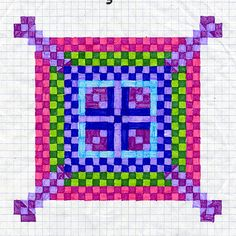 Graph Art, everyone makes a pattern and put together as a class quilt