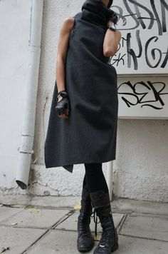 Soft Grey High Quality Kasha Fabric Sleeveless Coat by Aakasha