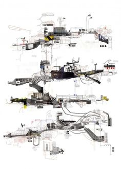 Oh my Guy (Debord)!! amazing architectural diagrams by Frank Dresmé of 21IBS