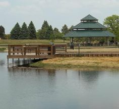 Urban Fishery - Fishing Pier and Picnic ShelterUrban . The fishery was first stocked with 500 Blue Gill and 100 Large Mouth Bass. The area includes a fishing pier, walking path, picnic gazebo. Walking Paths, Largemouth Bass, Gazebo, Brooklyn, Picnic, Fishing, Cabin, Park, House Styles