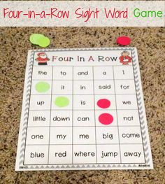 Primary Junction: First Grade Christmas Sight Word Game