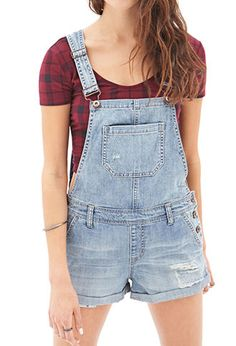 Blue Jeans Babe Overall Shorts | FOREVER21 - 2000106660