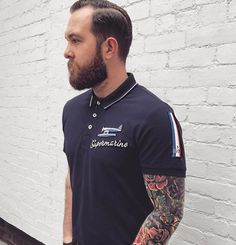 Jake Cawthorne in our Schneider Trophy Polo. Shop the look here: https://www.blackstarbrands.com/collections/polo-shirts/products/schneider-trophy-polo-shirt
