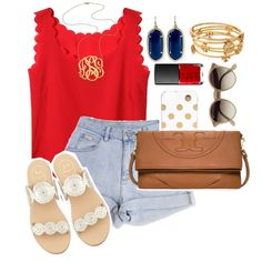 End of the school year trip to NOLA by theyoungprepster on Polyvore featuring Jack Rogers, Tory Burch, Kendra Scott, Jennifer Zeuner, Kate Spade, Ray-Ban and NARS Cosmetics