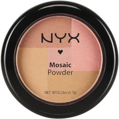 NYX Mosaic Powder Blush Dare (€9,71) ❤ liked on Polyvore featuring beauty products, makeup, face makeup, face powder, beauty, nyx, powder blush, mineral powder blush and mineral face powder