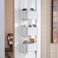 Holly & Martin Hazel Over-the-Door Basket Storage-White. Embrace beautiful convenience with over-the-door basket storage that can be visible or tucked away - it's up to you! The over-the-door, basket storage unit is a must have for Door Storage, Kitchen Storage, Closet Storage, Bedroom Storage Ideas For Small Spaces, Small Storage, Storage Room, Extra Storage, Storage Containers, Storage Baskets