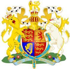 Escudo real britanico - El escudo de armas del monarca británico también es usado como blasón nacional en el Reino Unido. En él aparecen reunidos los escudos de Inglaterra, Escocia e Irlanda (del Norte) Es un escudo cuarteado: En el primer y cuarto cuartel de gules; tres leones pasantes colocados en palo de oro, linguados, uñados y armados de azur; símbolo de Inglaterra. En el segundo, de oro, un león rampante de gules, linguado uñado y armado de azur y una orla doble con flores de lis de…