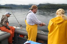 Finding Inspiration (and lots of fish) at Waterfall Resort, Alaska - Dave's Travel Corner 52-acres of wilderness await guests at Waterfall Resort – a private fishing lodge located on Prince of Wales Island near Alaska's Inside Passage. Seasonal runs of large numbers of fish pass through here including wild king and silver salmon, various size halibut (and this fish can easily get over 100 pounds), lingcod and numerous other types @waterfallresort