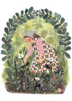 """Gathering Flowers""-- PHOEBE WAHL --"