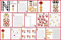 Chinese New Year Do-a-Dot Printables: 15 Chinese New Year do-a-dot worksheets designed to help kids practice a range of skills including one...