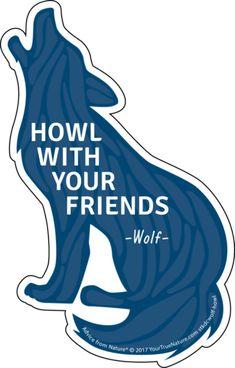 Die Cut Wolf Sticker- Large: $3.50 each
