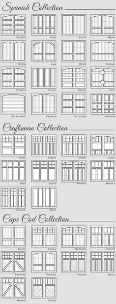 Wood Garage Door Panel Design and Styles