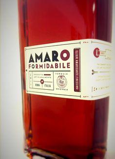 Amaro FORMIDABILE. #packaging #design